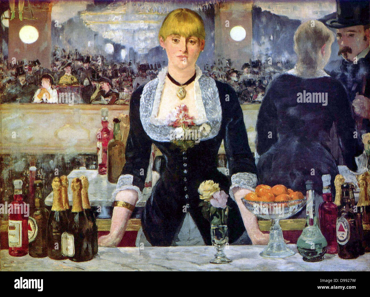 Bar at the Folies Bergere', 1882, the artist's last major work. Oil on canvas. Edouard Manet (1832-1883) - Stock Image
