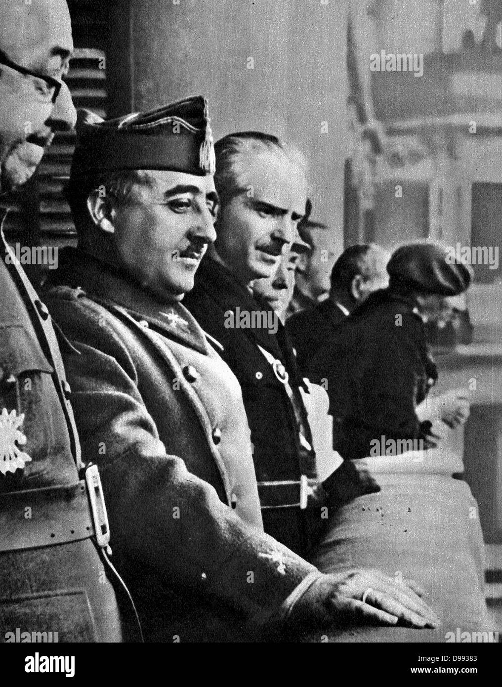 Francisco Franco (4 December 1892 – 20 November 1975), Spanish General and dictator, head of state of Spain from - Stock Image