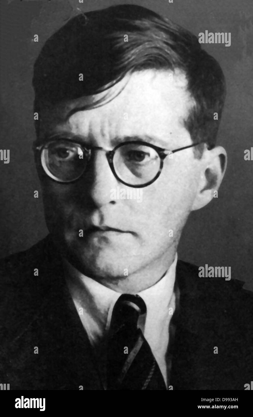 Dmitri Shostakovich 1906 – 1975. Soviet composer and one of the most celebrated composers of the 20th century. - Stock Image