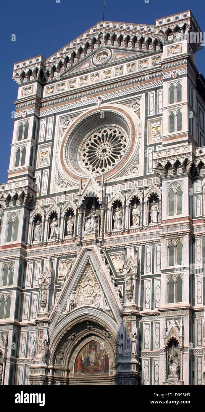 Florence Cathedral The Basilica di Santa Maria del Fiore is the cathedral church (Duomo) of Florence, Italy, begun - Stock Image