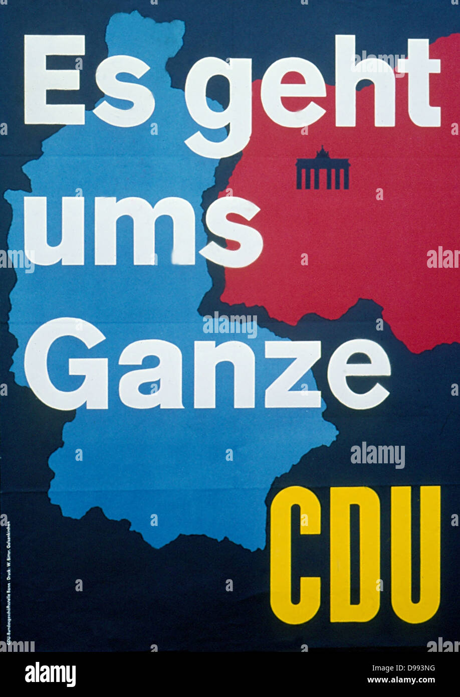 es geht ums ganze (It's about everybody) German political poster during the 1980's (West German) showing - Stock Image