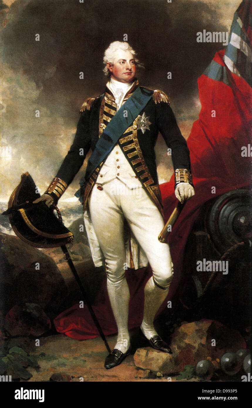 William IV (1765 – 1837). William in dress uniform painted by Sir Martin Archer Shee, c.1800. King of the United - Stock Image