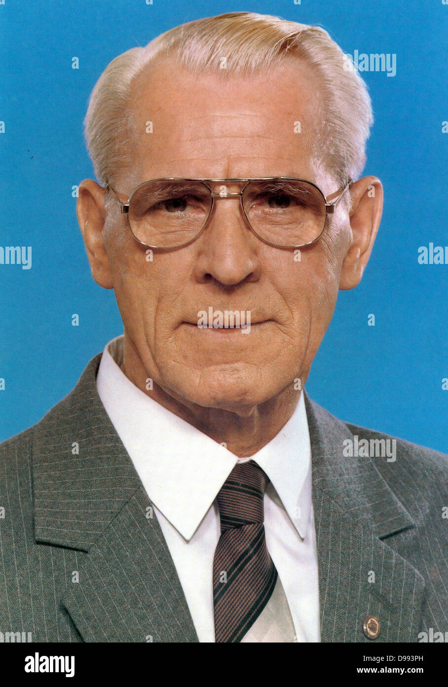 Willi Stoph (1914-1999) East German politician. Prime Minister (Chairman of the Council of Ministers) of the German Stock Photo
