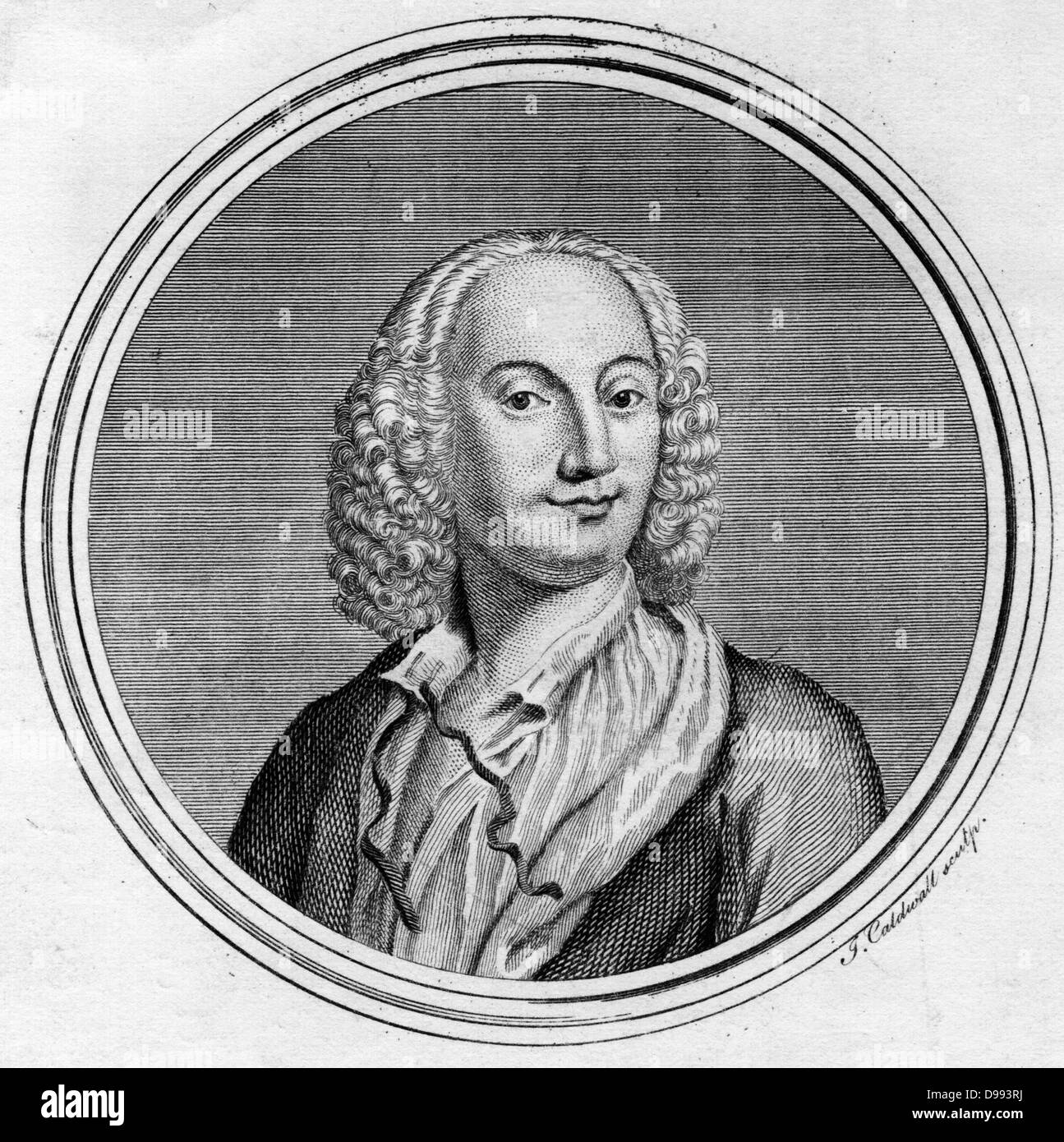 Antonio Vivaldi (1678-1741) Italian composer and violinist, born in Verona - Stock Image