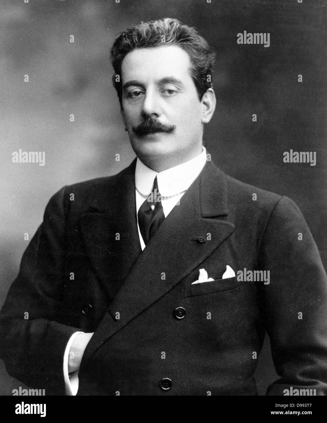Giacomo Puccini (1858 –1924) Italian composer of operas, including La bohème, Tosca, Madama Butterfly and Turandot. - Stock Image