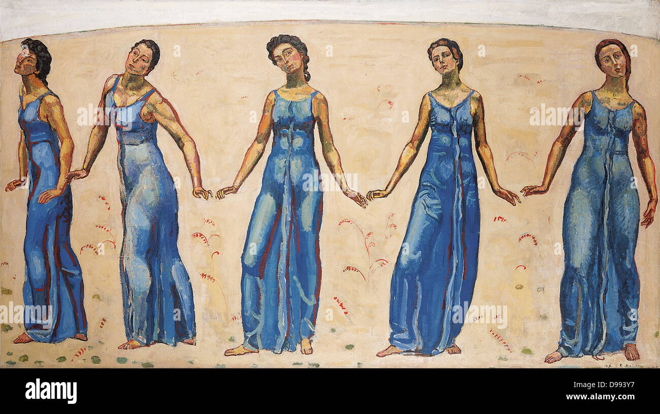 Ferdinand Hodler (1853 – 1918) Swiss painter, 'Gaze on the infinite' - Stock Image