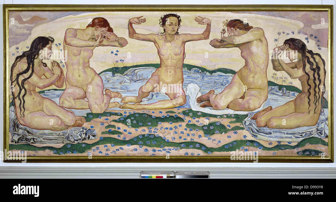 Ferdinand Hodler (1853 – 1918) Swiss painter. 'The Day' 1900. - Stock Image