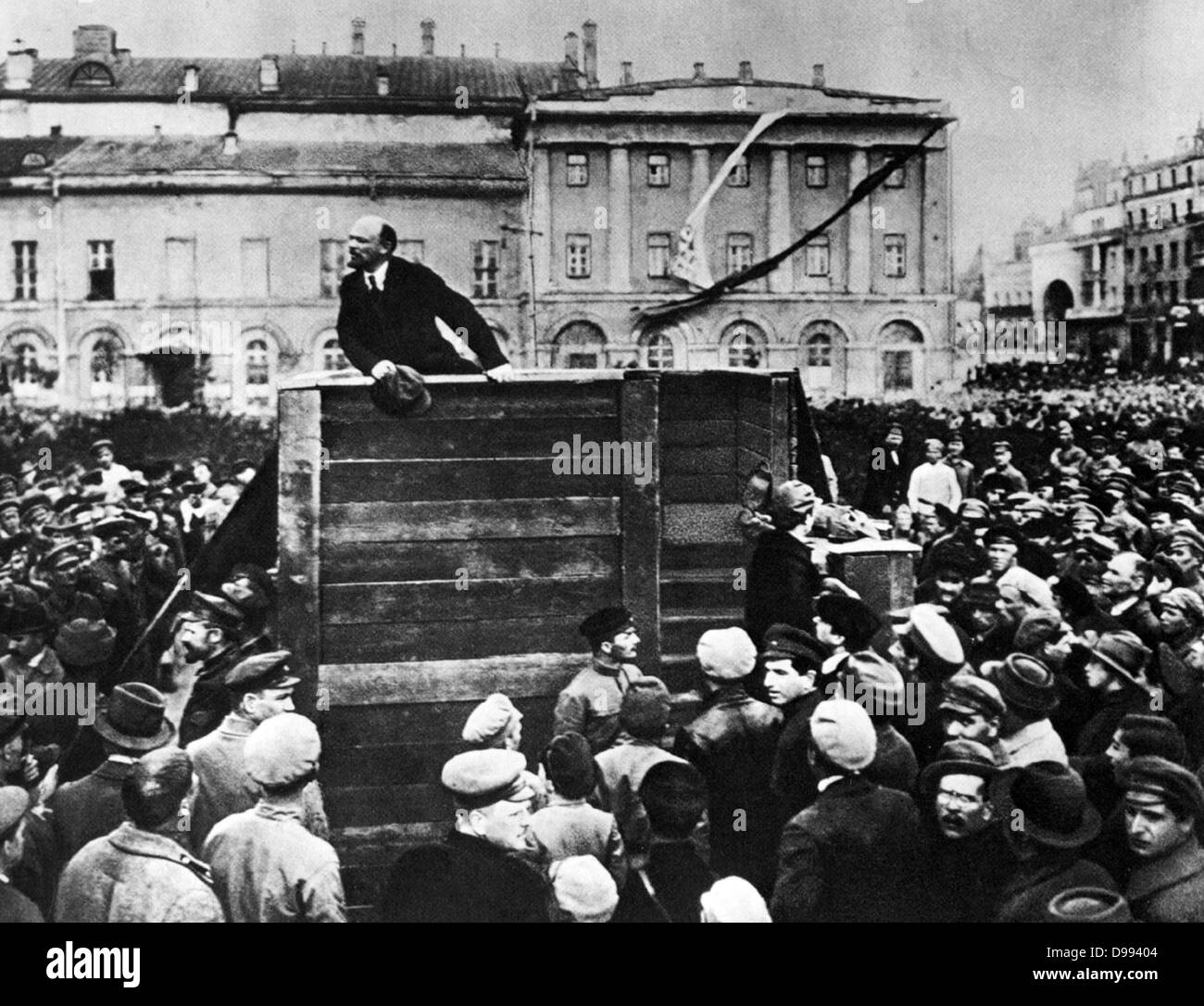 Lenin in Red Square. Vladimir Ilyich Lenin ( 1870 – 1924). Russian revolutionary and communist politician who led Stock Photo