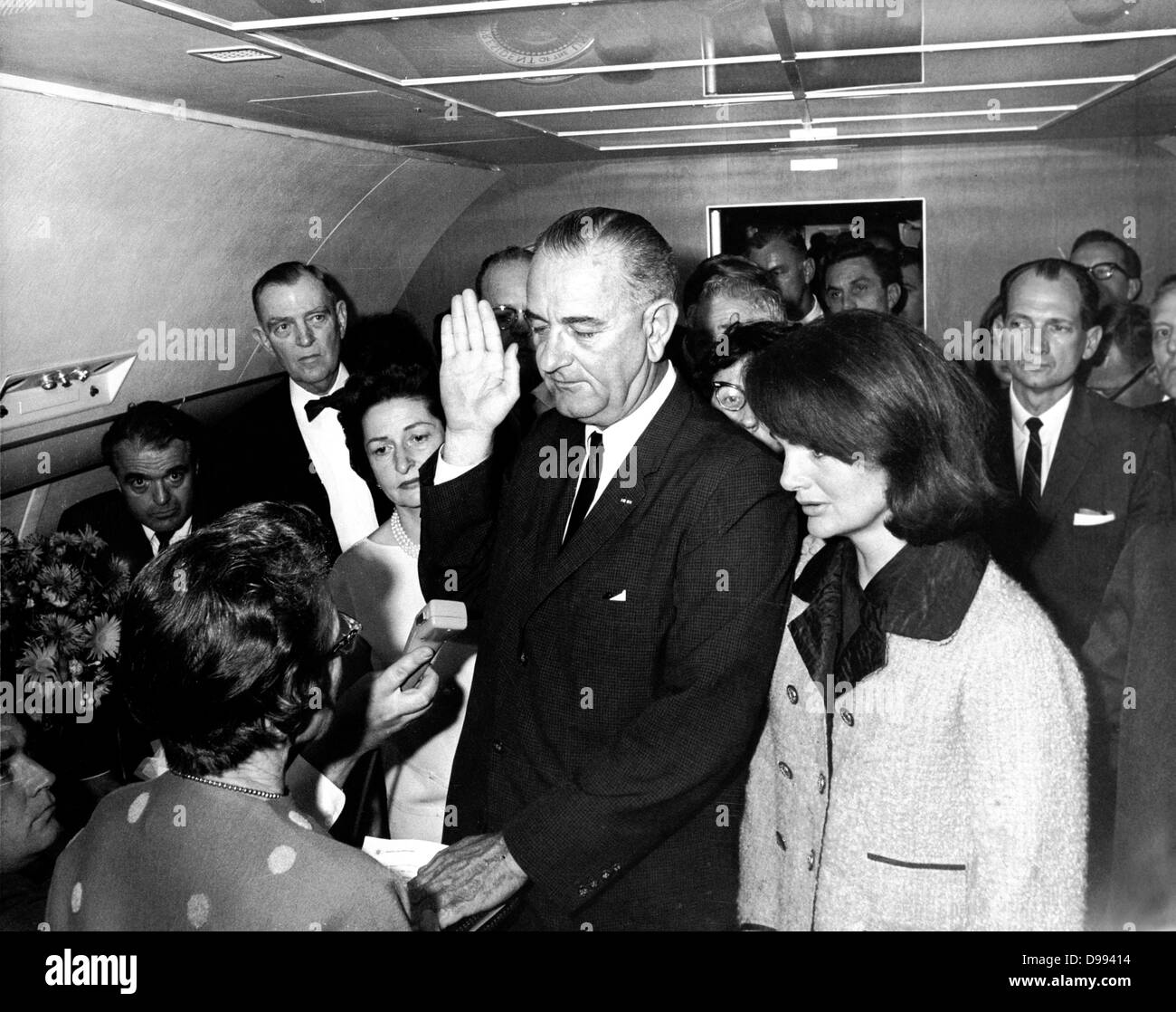 Lyndon Baines Johnson (1908 – 1973), referred to as LBJ, served as the 36th President of the United States from Stock Photo