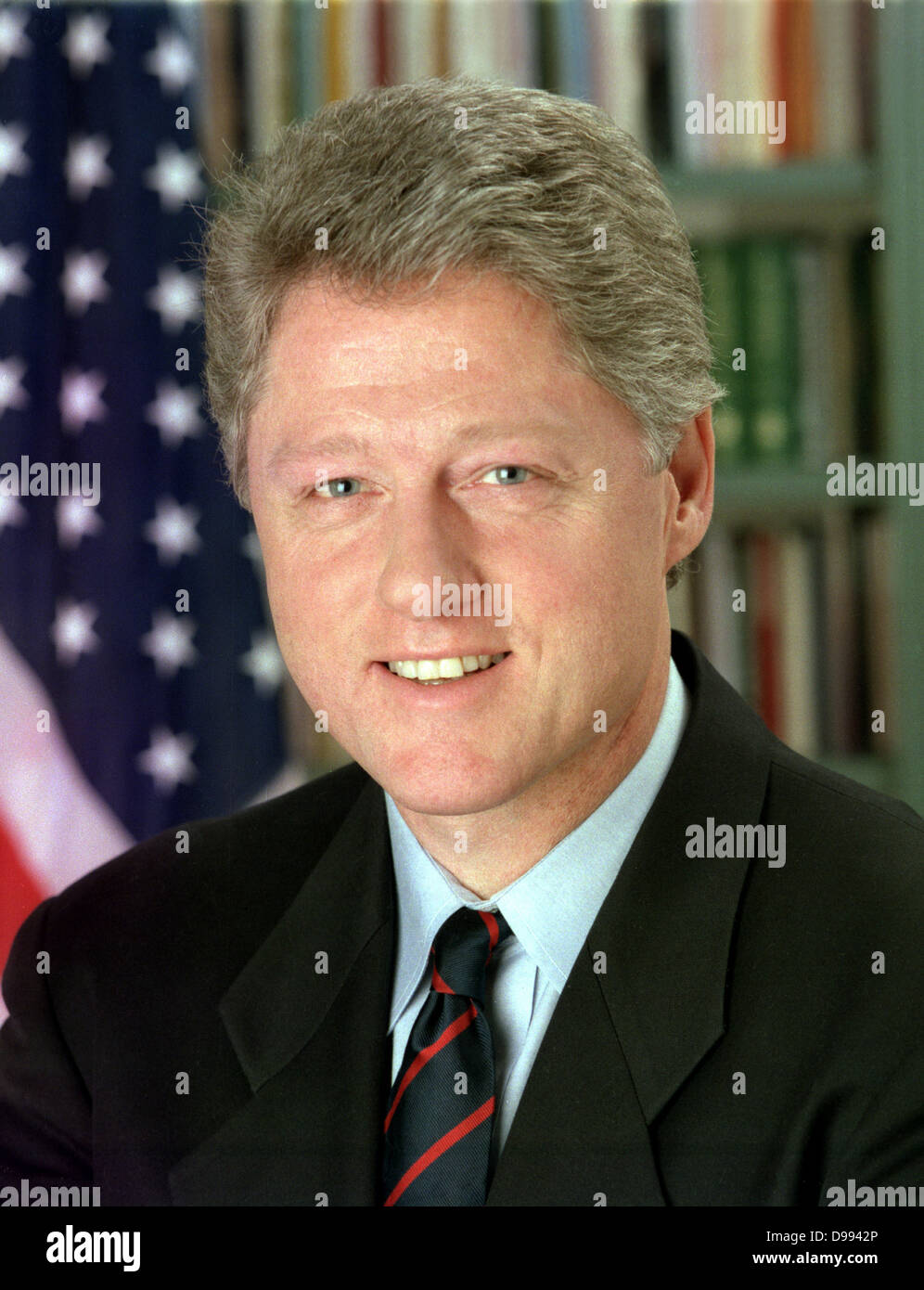 William Jefferson Clinton (born 1946) 42nd President of the United States from 1993-2001. Head-and-shoulders portrait - Stock Image