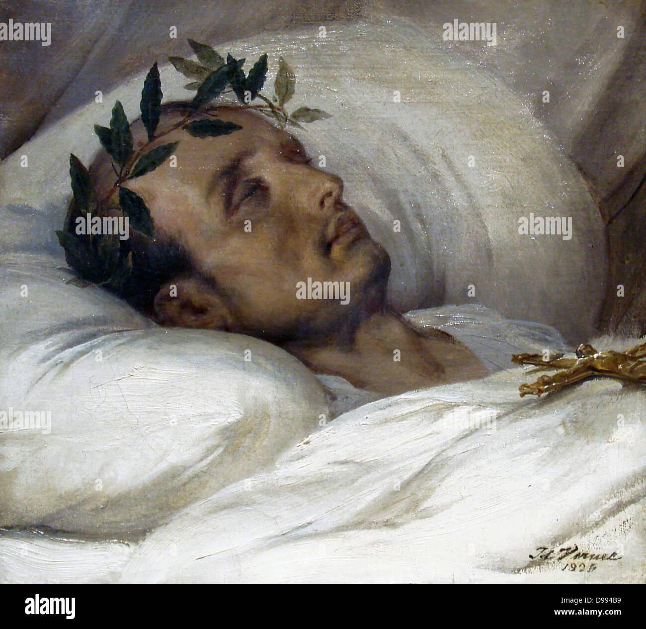 napoleon_sur_son_lit_de_mort_horace_vernet_1826 - Stock Image
