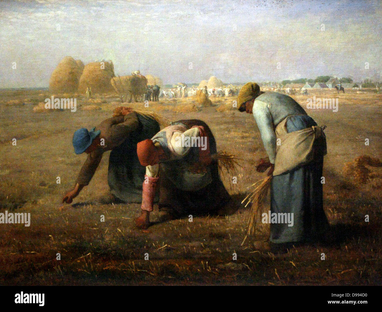 Jean-François Millet (October 4, 1814 – January 20, 1875) was a French painter and one of the founders of the - Stock Image
