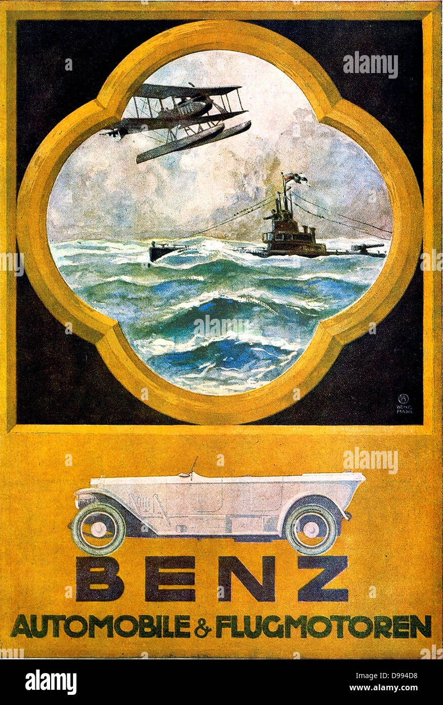 Benz Automobiles German 1914 Ad Trucks Aircraft Engines Advertising Mercedes Collectibles