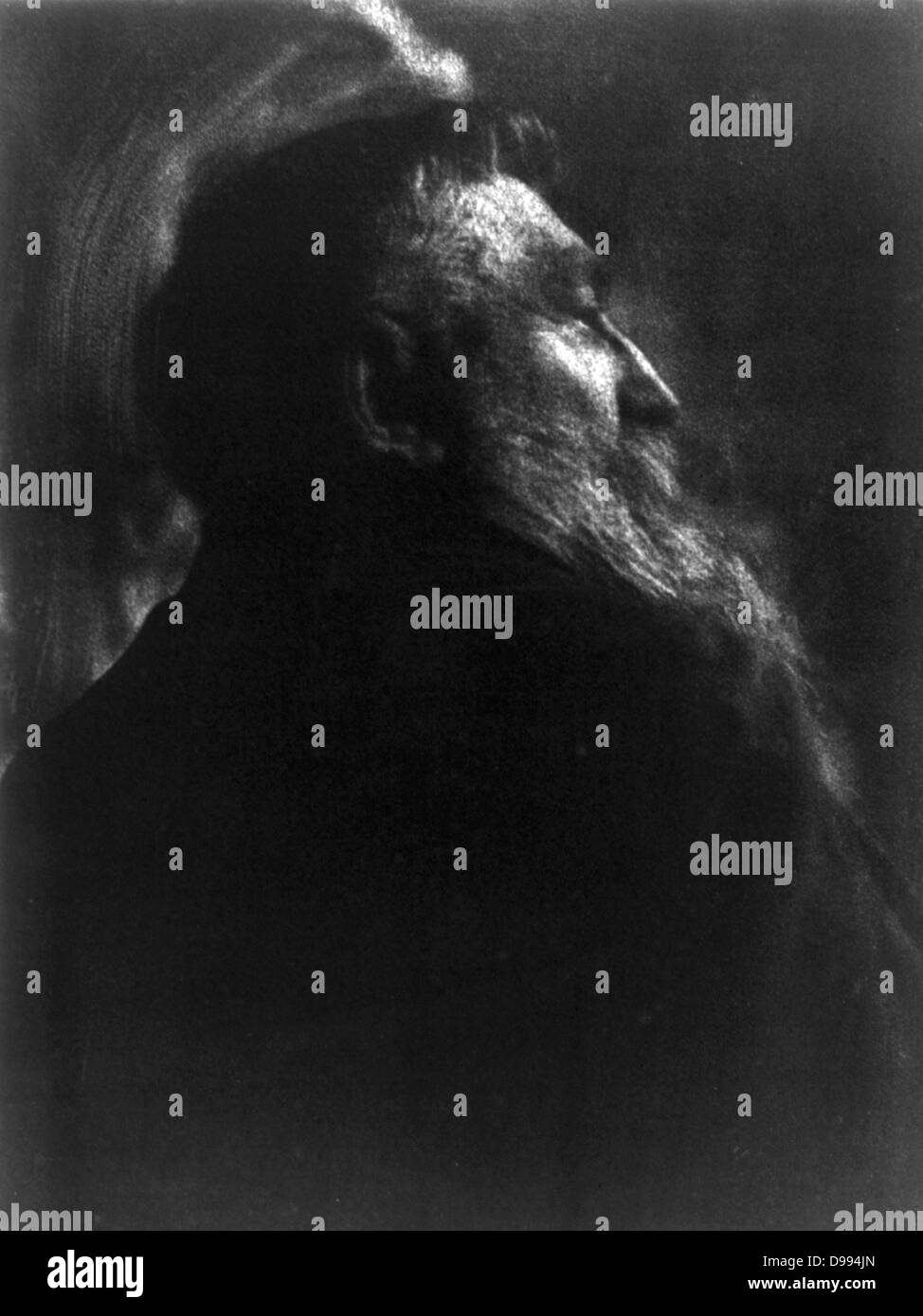 Portrait photograph of French sculptor Auguste Rodin (1840-1917) by Gertrude Kasebier (1852-1934) - Stock Image