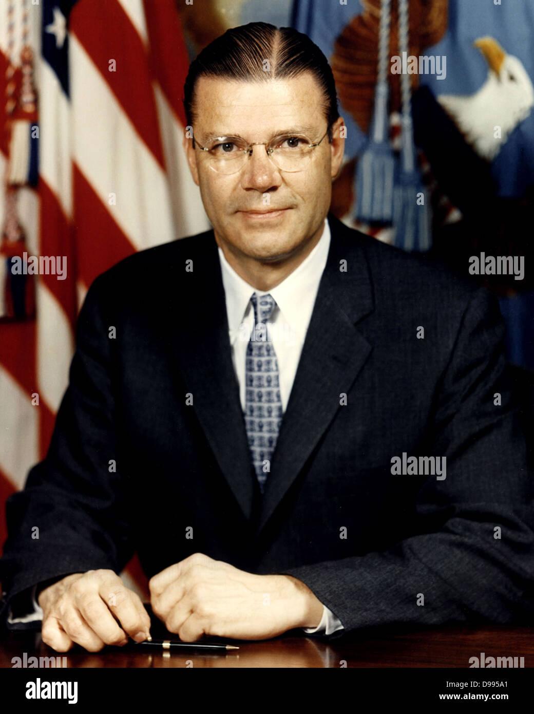 Robert McNamara (1916 – 2009)American Secretary of Defense, under Presidents John F. Kennedy and Lyndon B. Johnson - Stock Image