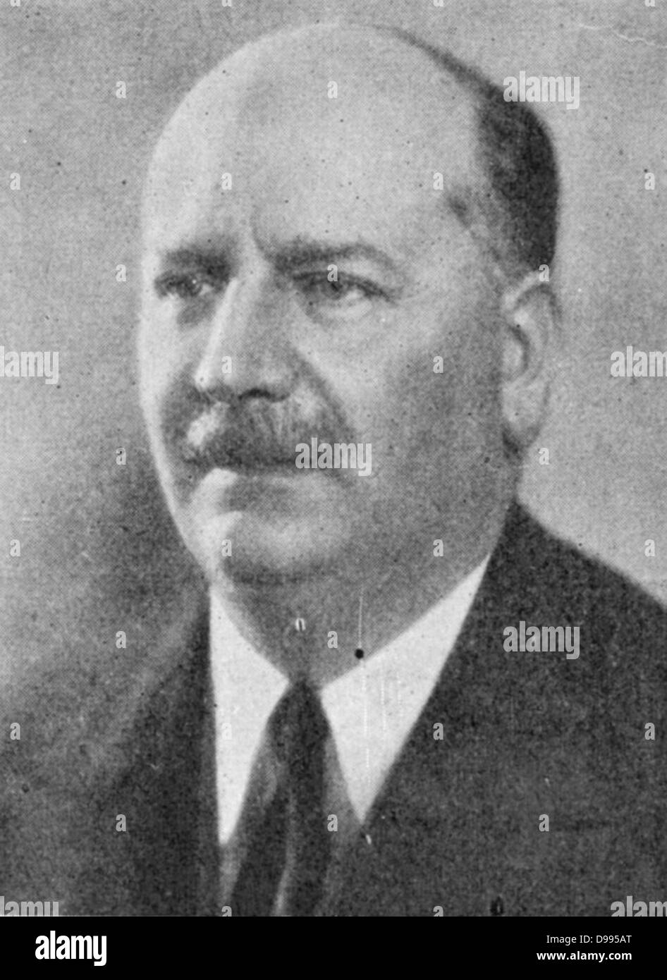 Pierre Etienne Flandin (1889-1958) French conservative politician and leader of the Democratic Republican Alliance - Stock Image