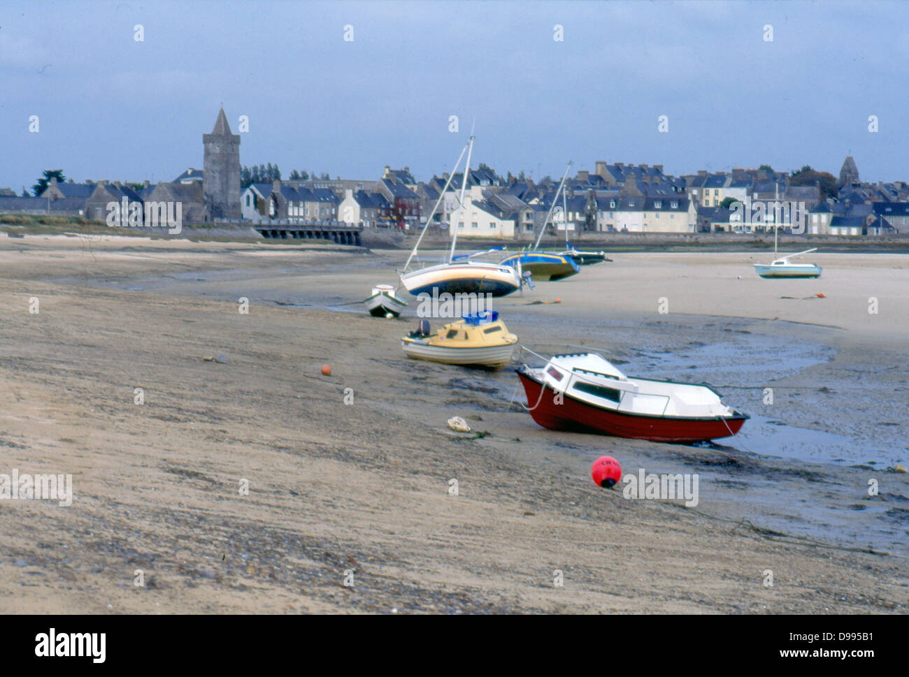 France, Normandy.  Port bail, village with boats. - Stock Image