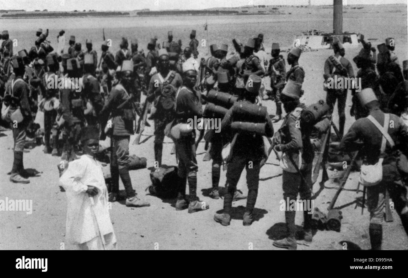 Sudanese infantry, French colonial forces, c1914. - Stock Image