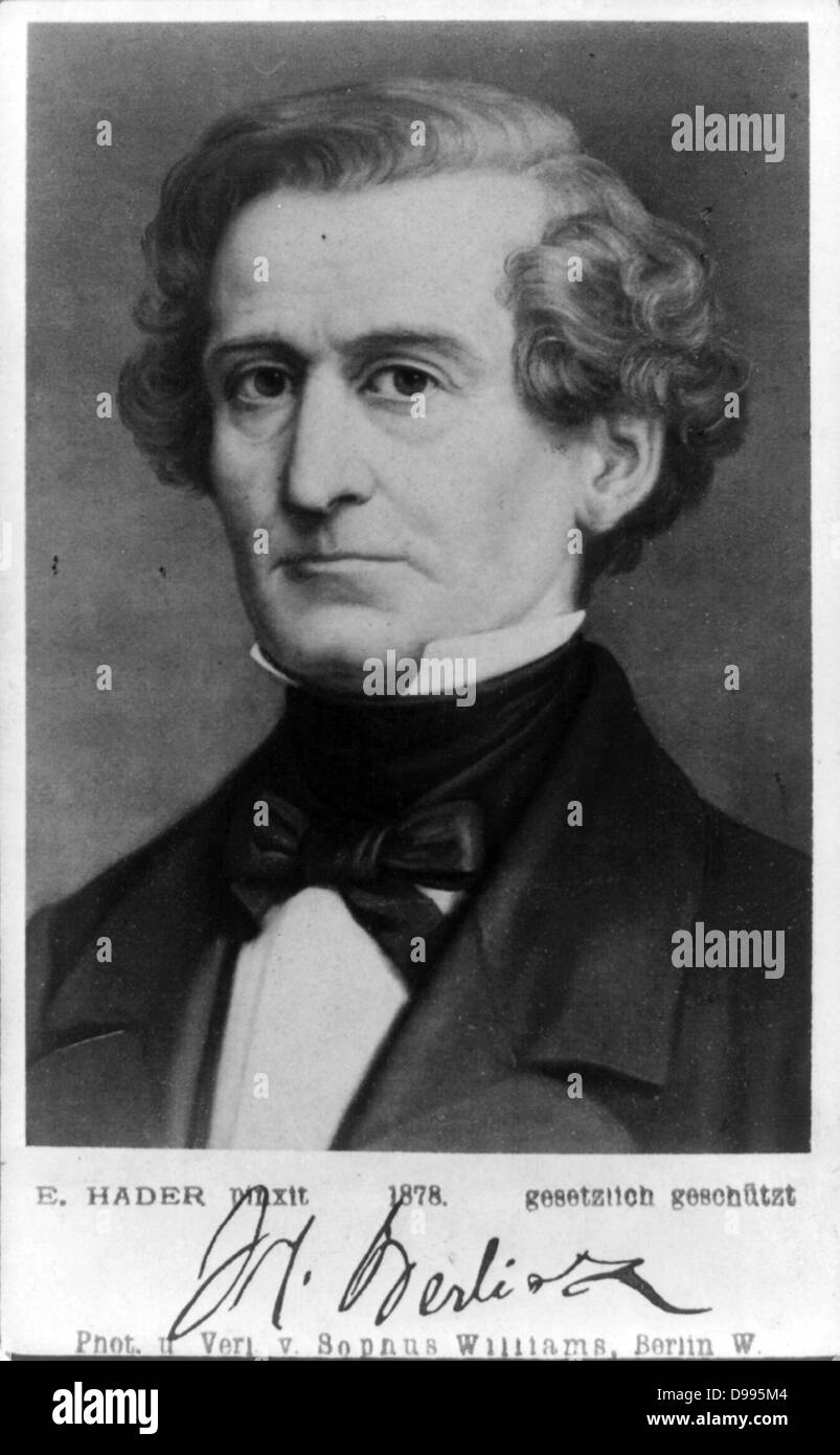 Hector Berlioz ( 1803 – 1869)  French Romantic composer, best known for his compositions Symphonie fantastique and - Stock Image