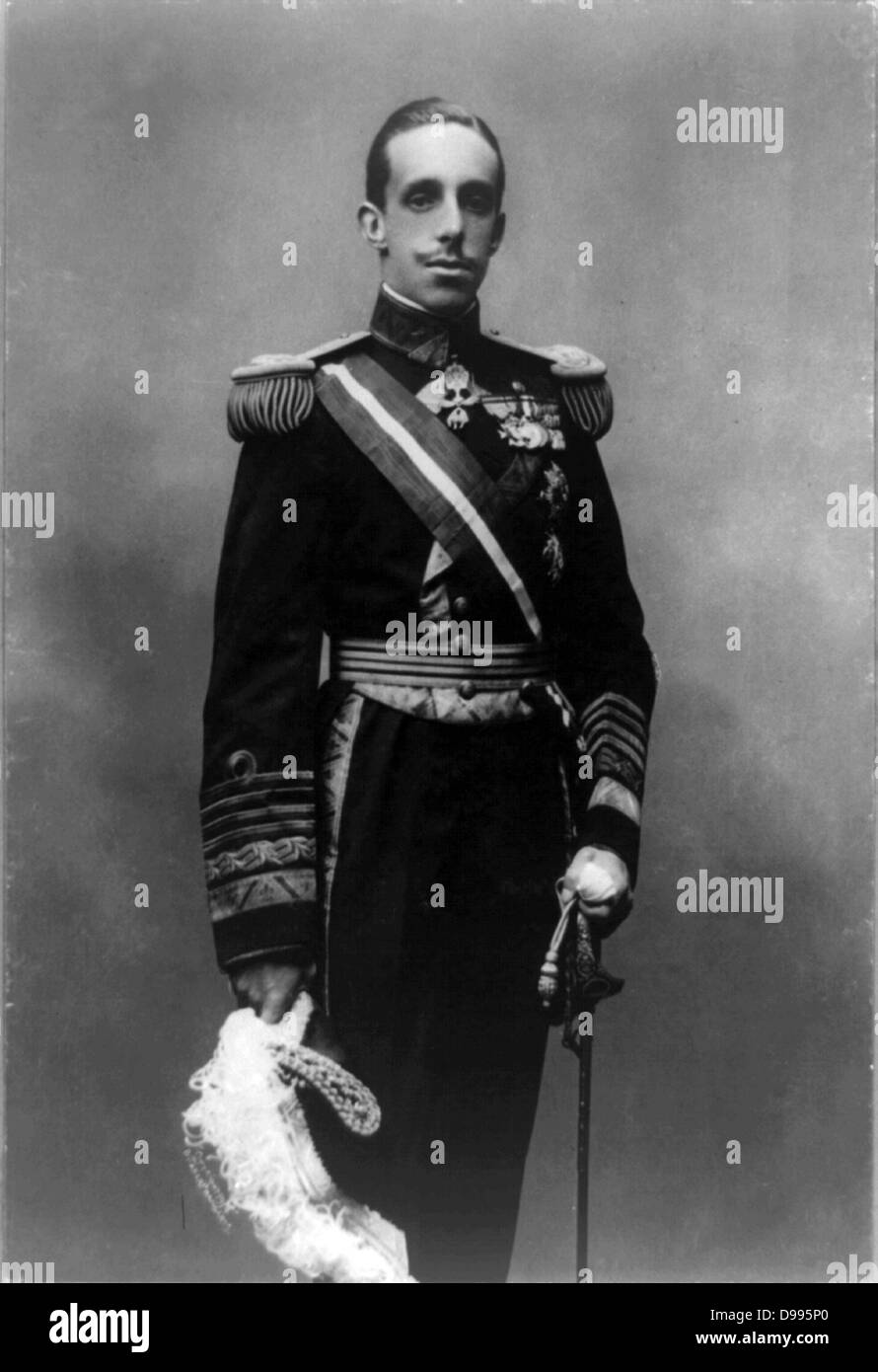 King Alfonso XIII of Spain, 1913 Oct. 13. - Stock Image