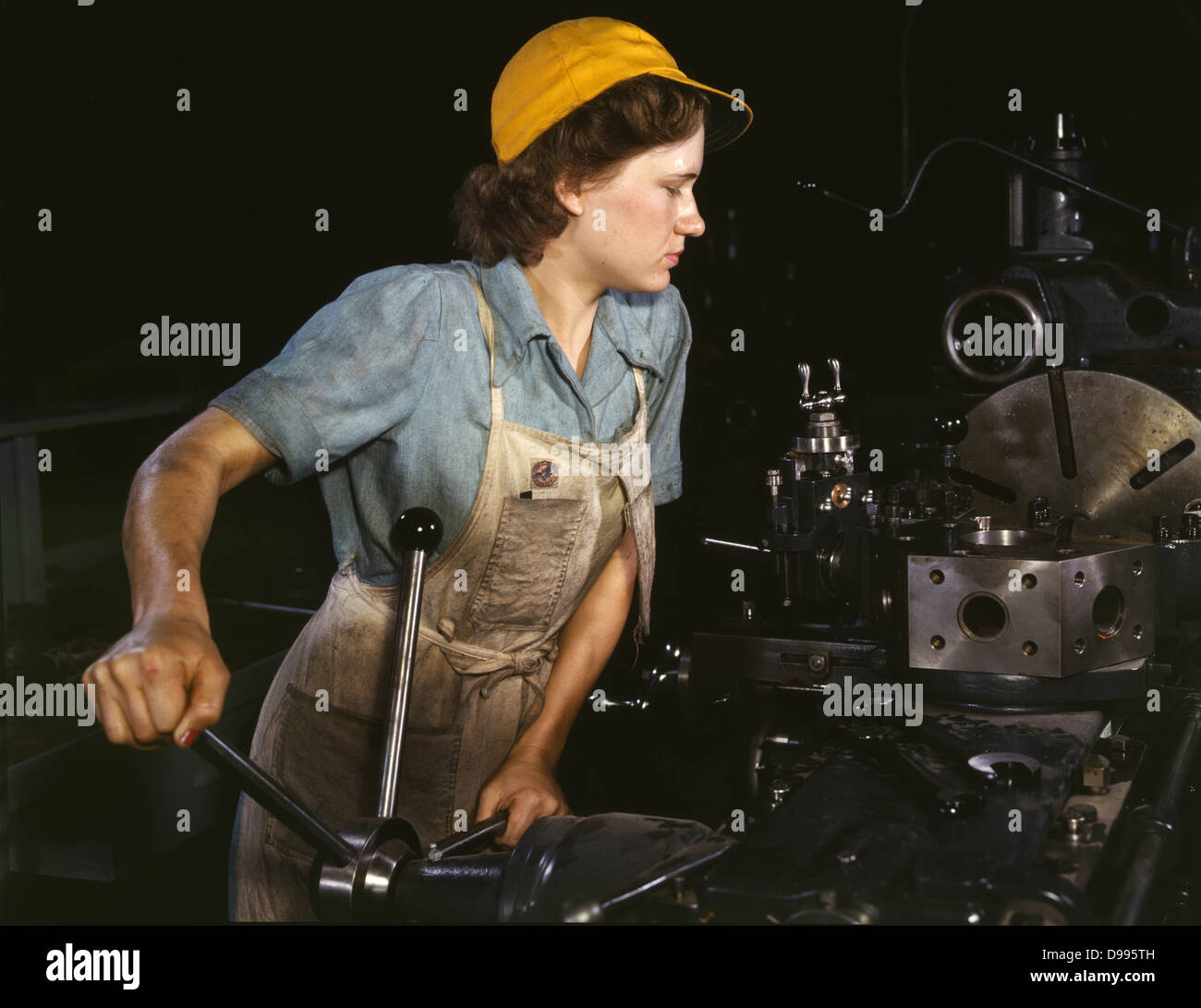 Female industrial worker, Second World War, USA 1940's - Stock Image