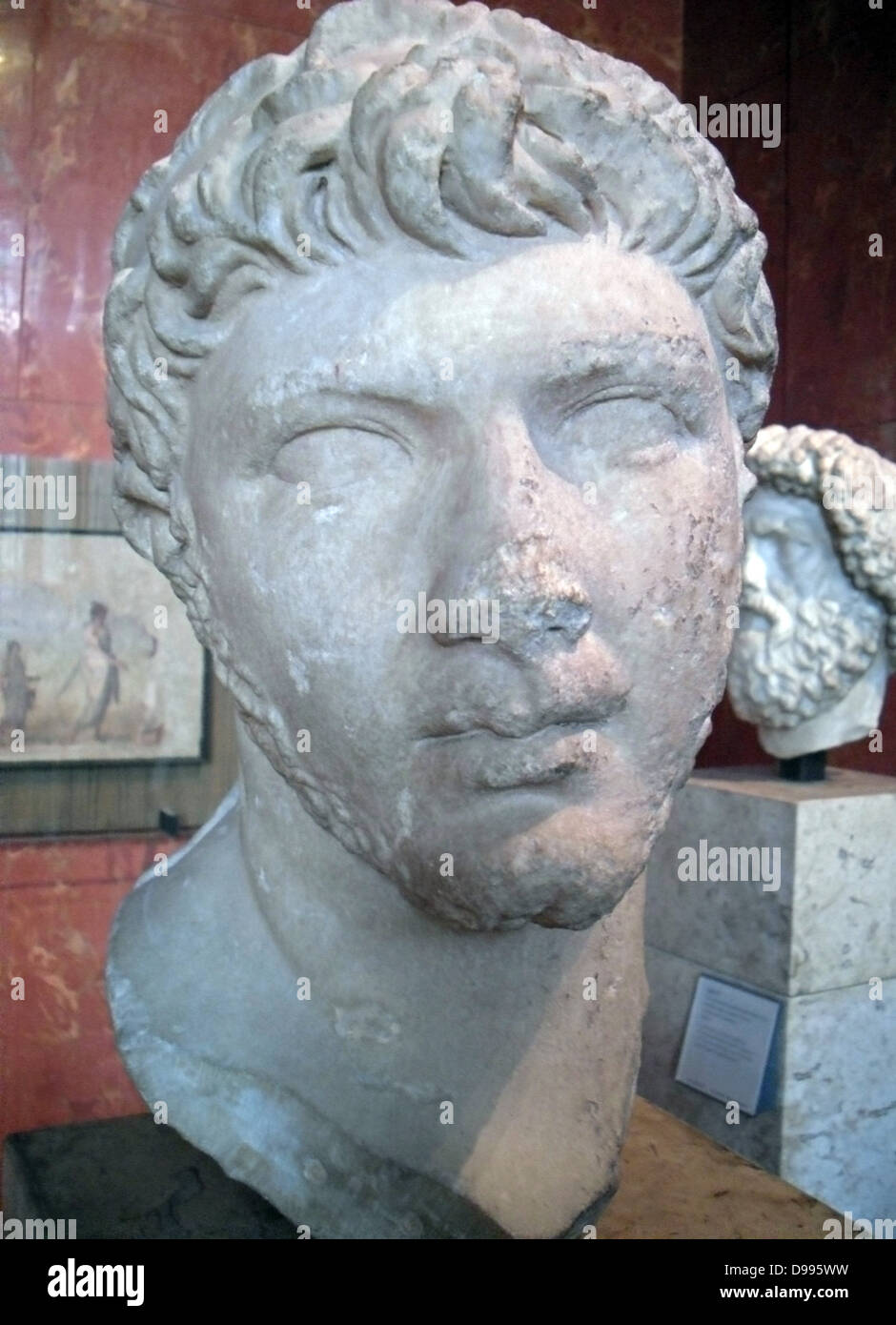 King Ptolemy of Mauretania, 23 AD 40 AD, Cherchel, Algeria (ancient Caesarea) Marble - Stock Image