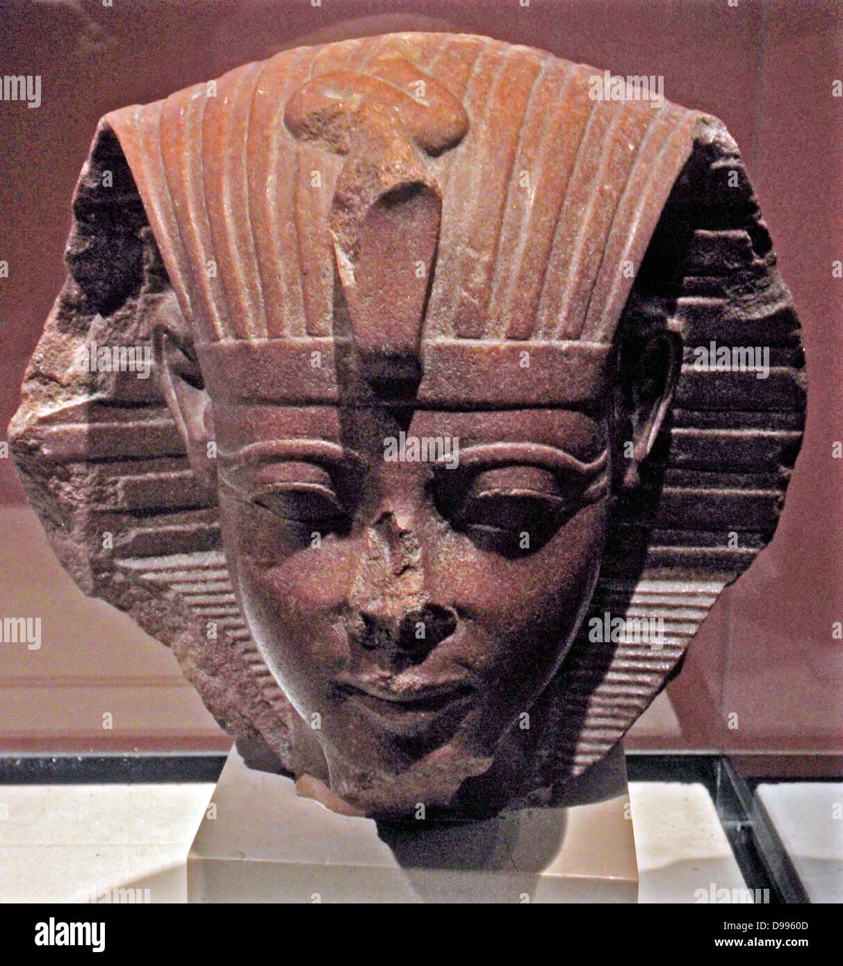 Sphinx head, probably of King Amenhotep II Stock Photo