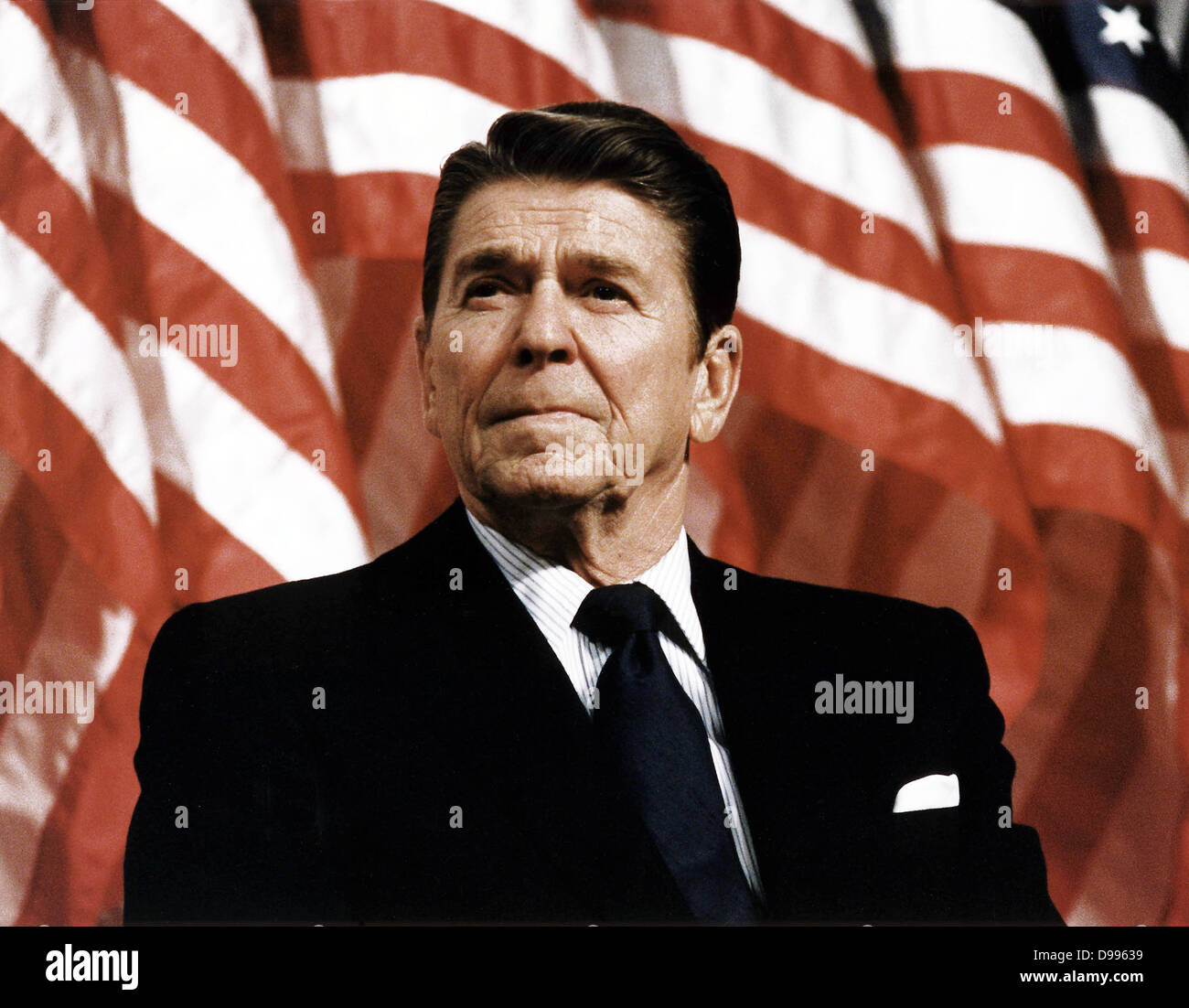 President Ronald Reagan at Durenberger Republican convention Rally, 1982 - Stock Image