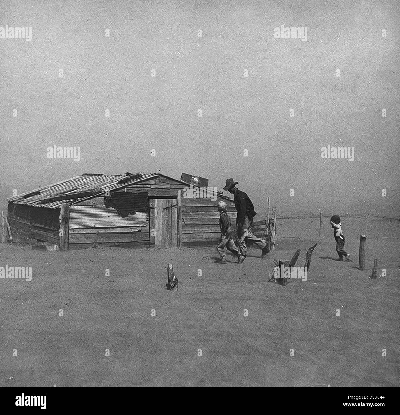 Dust Bowl in America 1930   Collection - Stock Image