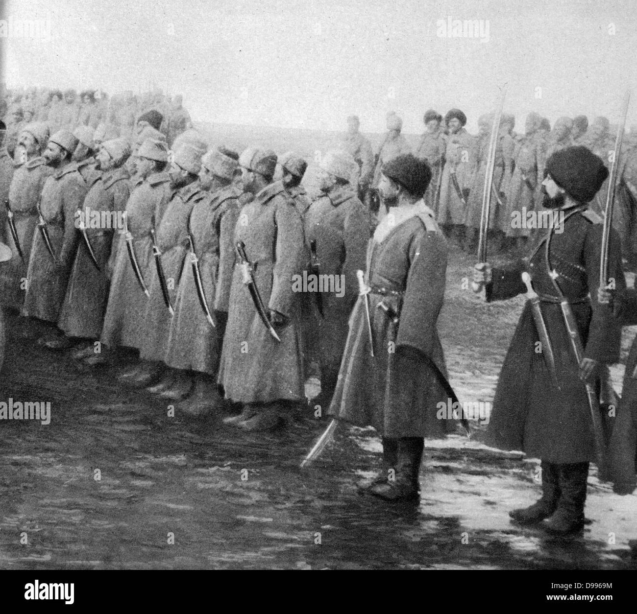 The Erzurum Offensive or Battle of Erzurum. An offensive by the Imperial Russian Army on the Caucasus Campaign that - Stock Image