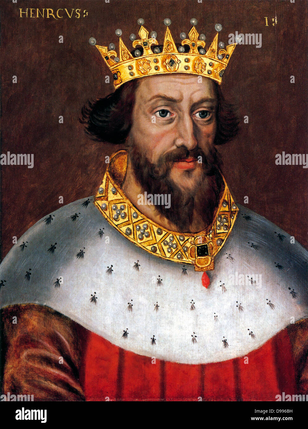 Henry I (c. 1068/1069 – 1 December 1135) was the fourth son of William I of England. He succeeded his elder brother - Stock Image