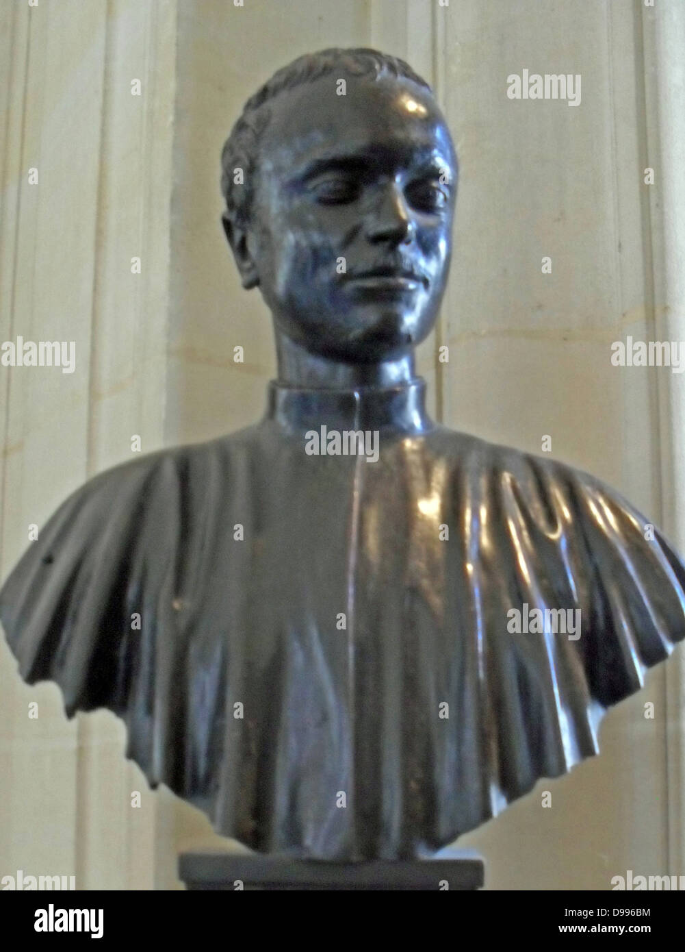 Venice at the start of XVI century. Young patrician (Marc Antonio Giustiniani?)  sculpture in Bronze - Stock Image