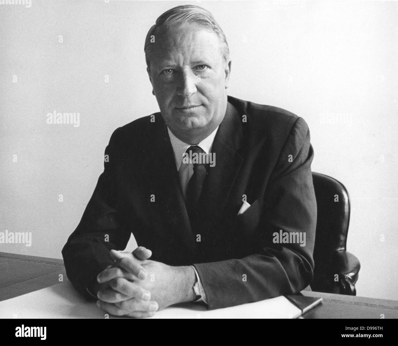 Sir Edward Richard George 'Ted' Heath, KG, MBE (9 July 1916 – 17 July 2005) , British Conservative Party - Stock Image