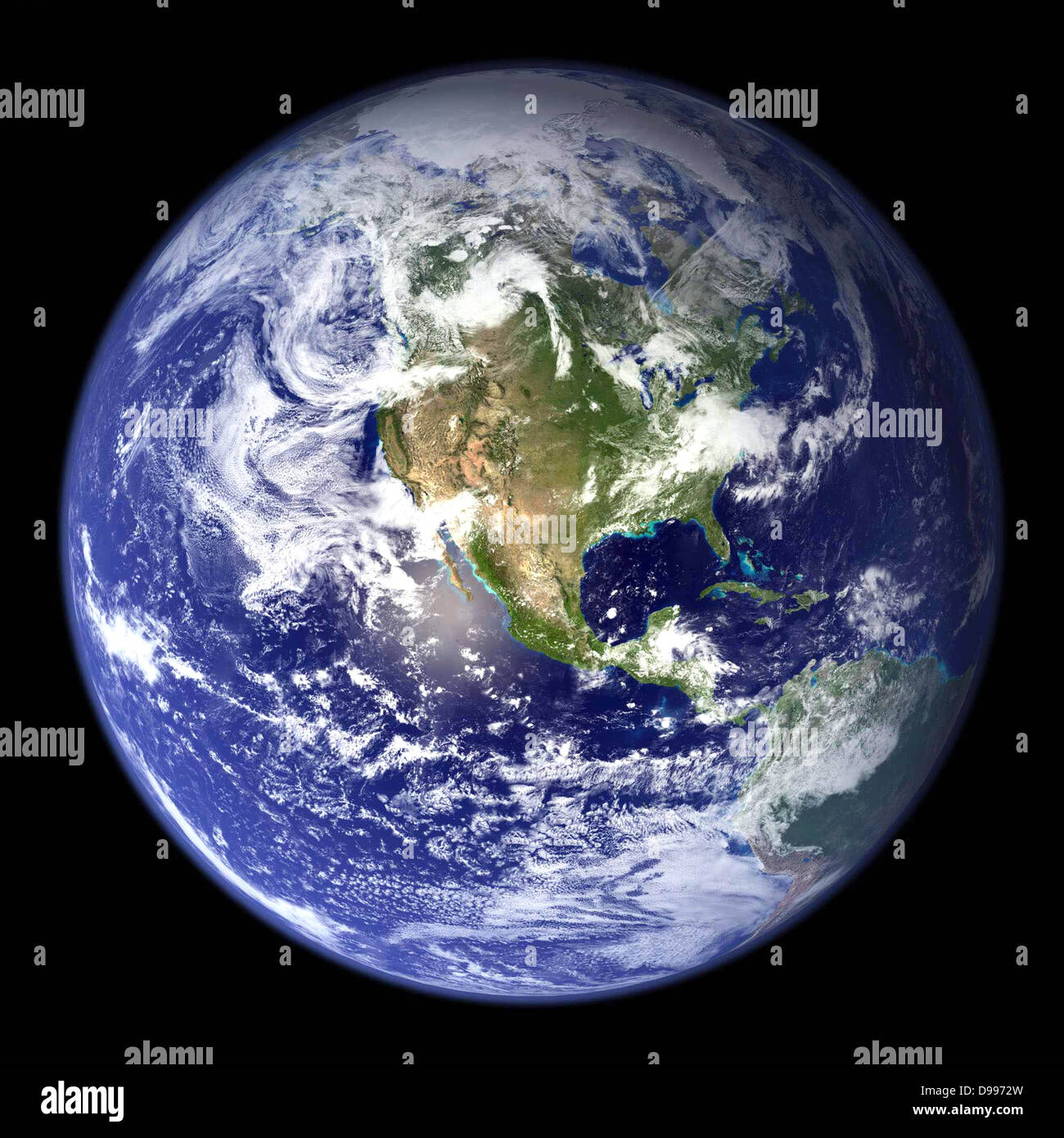 Satellite view of the earth north america from space for 3d outer space map