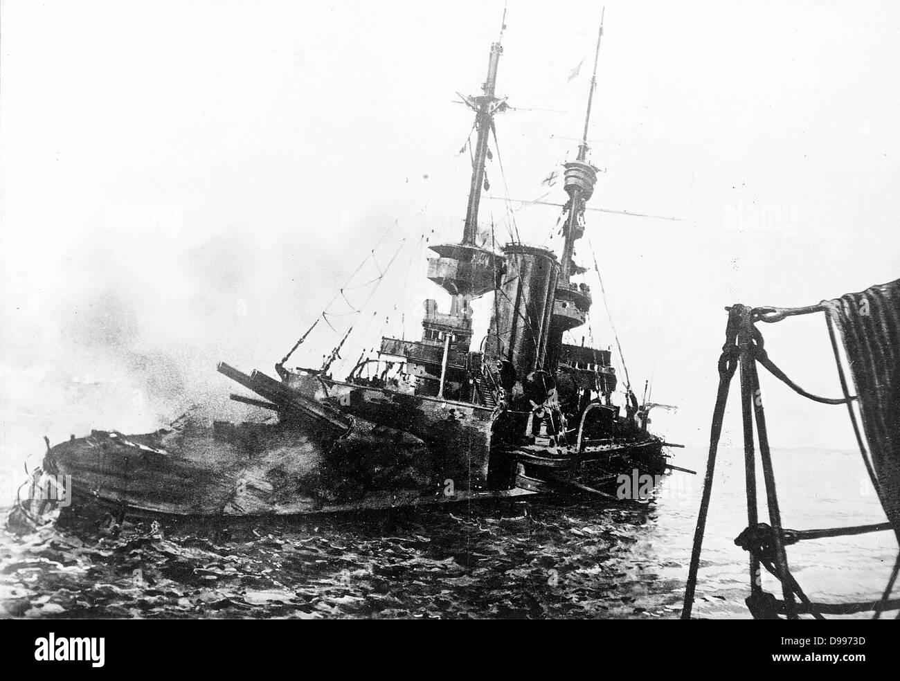 HMS Irresistible was completed in October 1901. During World War I on 18 Mar 1915, Irresistible participated in - Stock Image