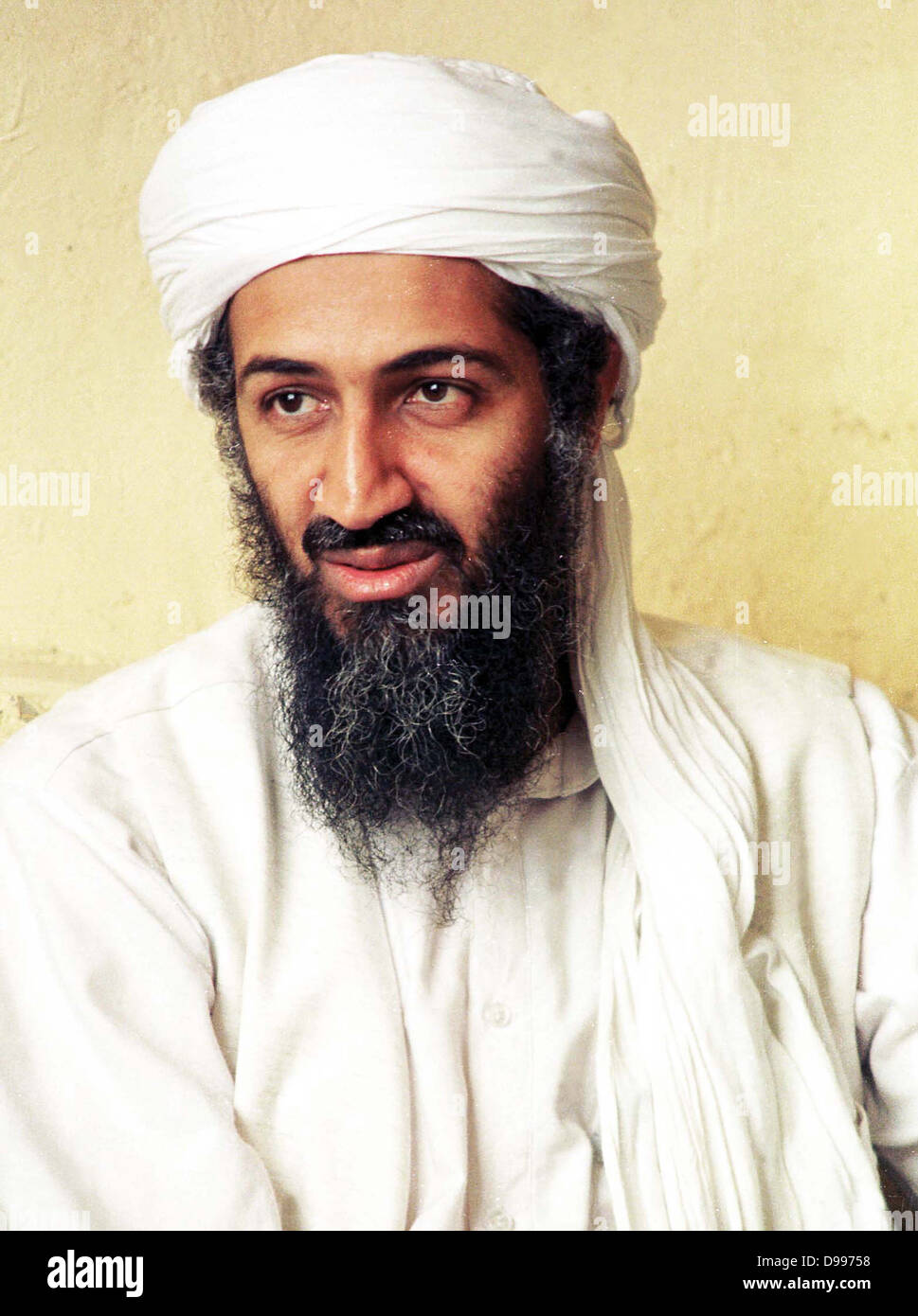 Osama bin Laden  born March 10, 1957. member of the prominent Saudi bin Laden family and the founder of the Islamic - Stock Image