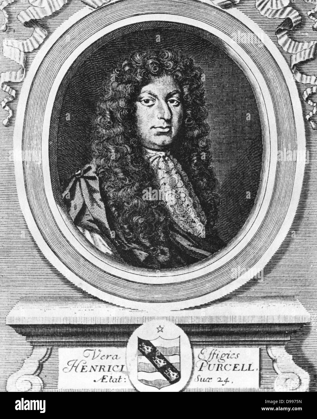Portrait of the English composer Henry Purcell  1659  - 1695 - Stock Image