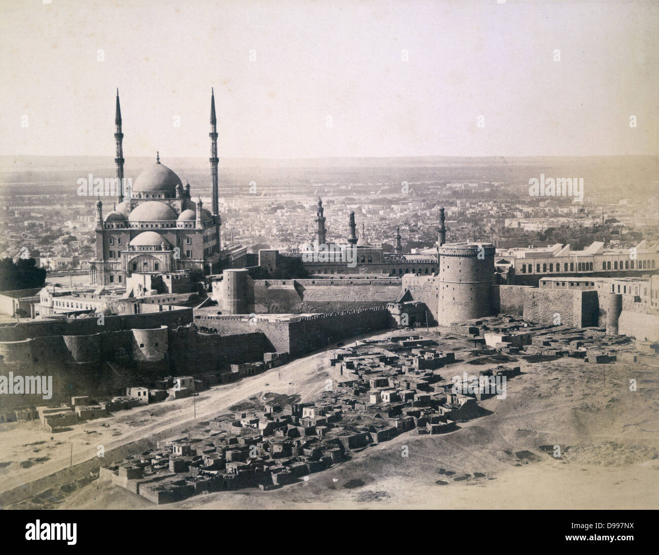 View of Cairo, Egypt, 1878. Anonymous photograph. - Stock Image