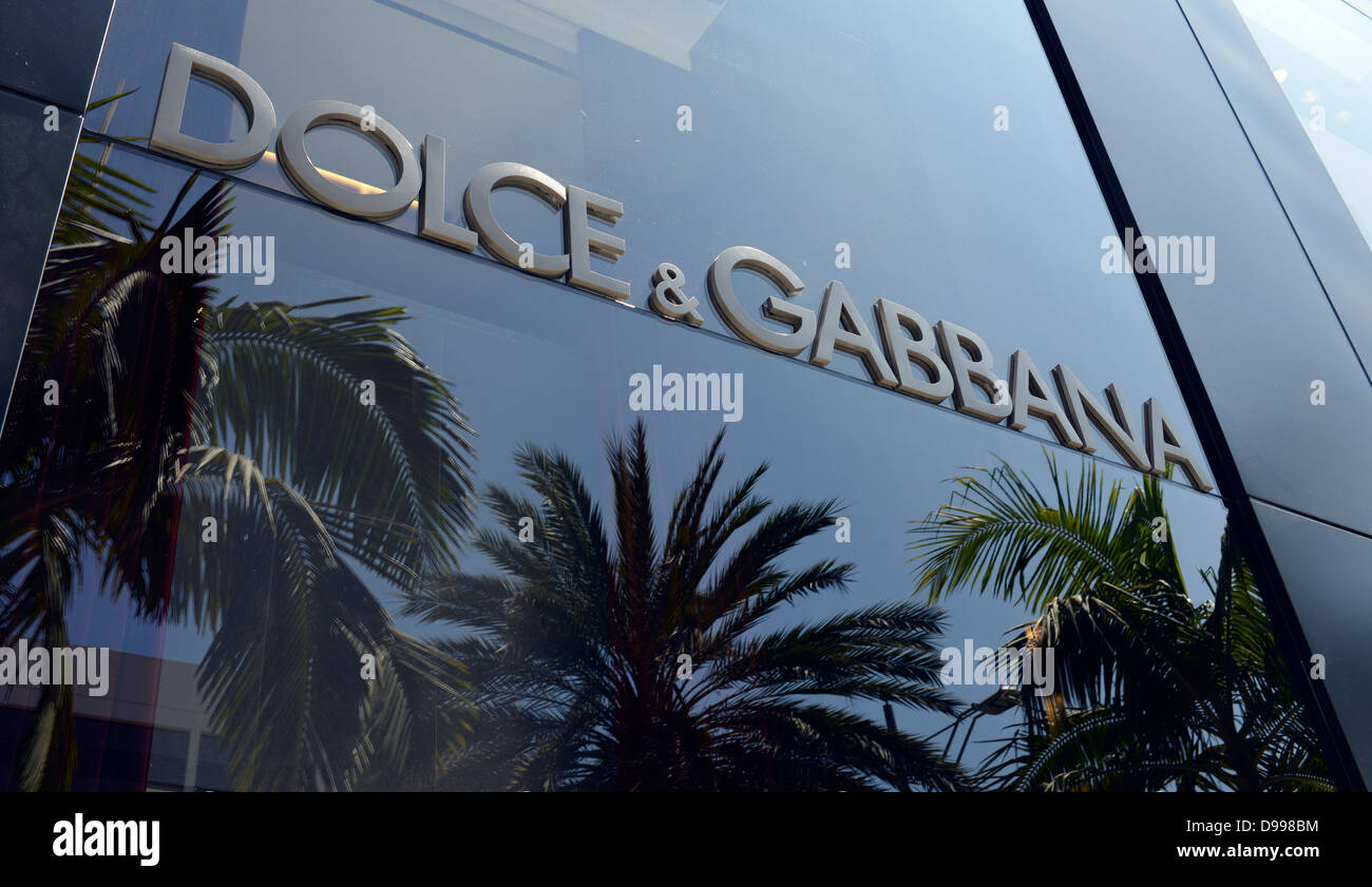 Dolce & Gabbana boutique, noble shopping street rodeo drive, Beverly Hills, Los Angeles, California, the United - Stock Image