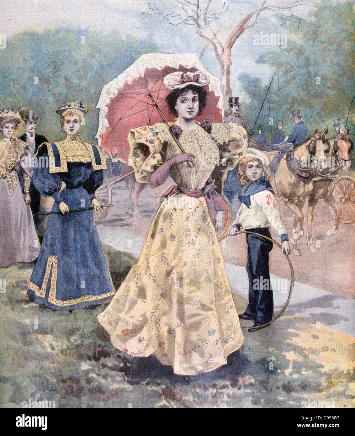 Female Fashion, Paris.  From 'Le Petit Journal', Paris, 16 July 1894. - Stock Image