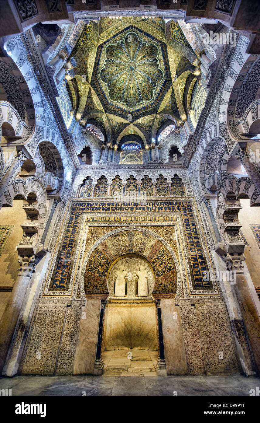 The Great Mosque of Córdoba, or Mezquita, is one the of the finest examples of Moorish architecture in Spain. Stock Photo