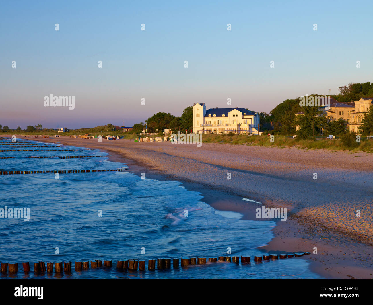 Beach, seaside resort of Heiligendamm, Mecklenburg-Western Pomerania, Germany - Stock Image