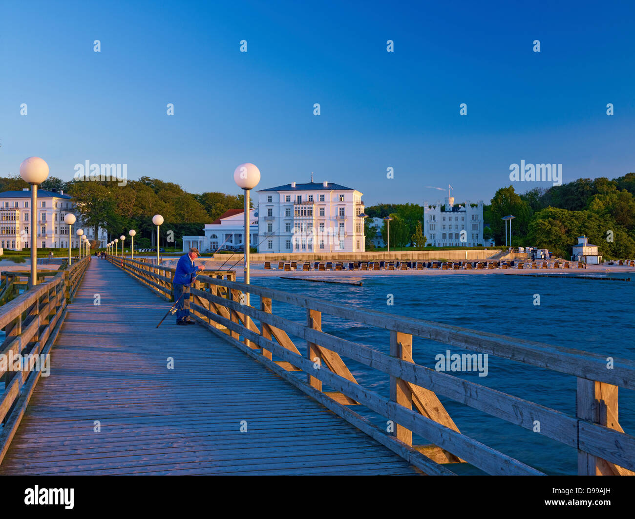 Pier, seaside resort of Heiligendamm, Mecklenburg-Western Pomerania, Germany - Stock Image