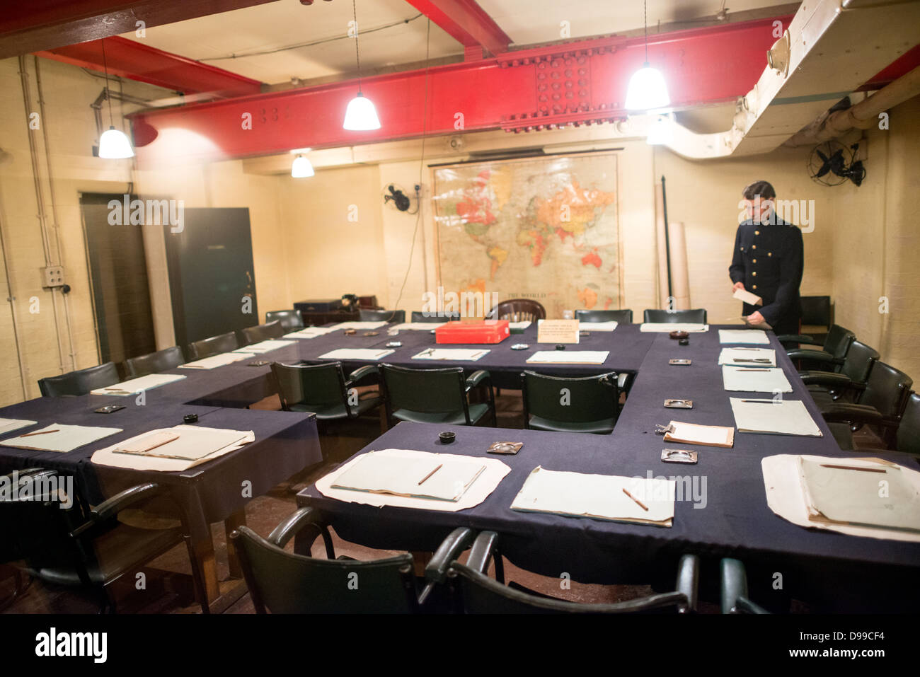 The main cabinet war room at the churchill war rooms in london the stock photo 57370408 alamy - Churchill war cabinet rooms ...