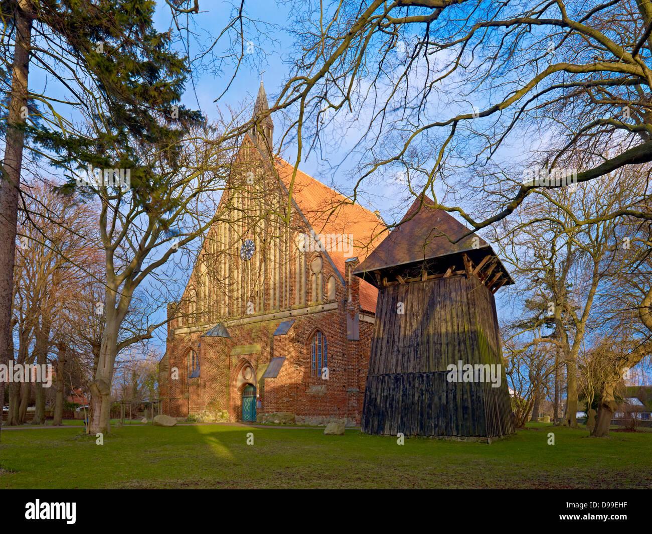 Saint Gerorg Church in Wiek, Ruegen Island, Mecklenburg-Western Pomerania, Germany - Stock Image