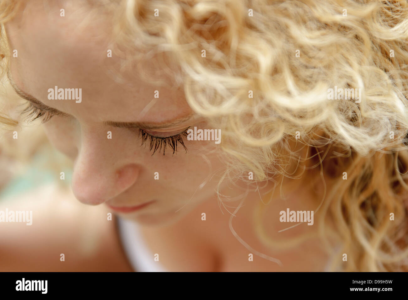 Women in grief - Stock Image