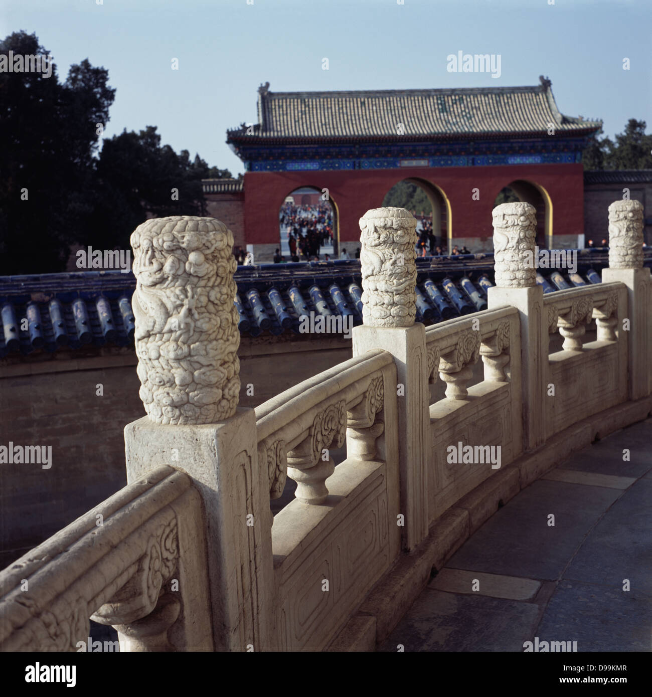 Balustrade in the temple of heaven. 2013 - Stock Image