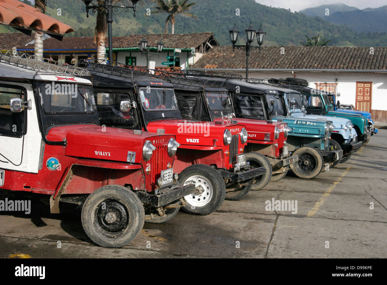Willys Jeeps Stock Photos Images Alamy On Filter Box Old The Parking Lot In Salento Colombia Image