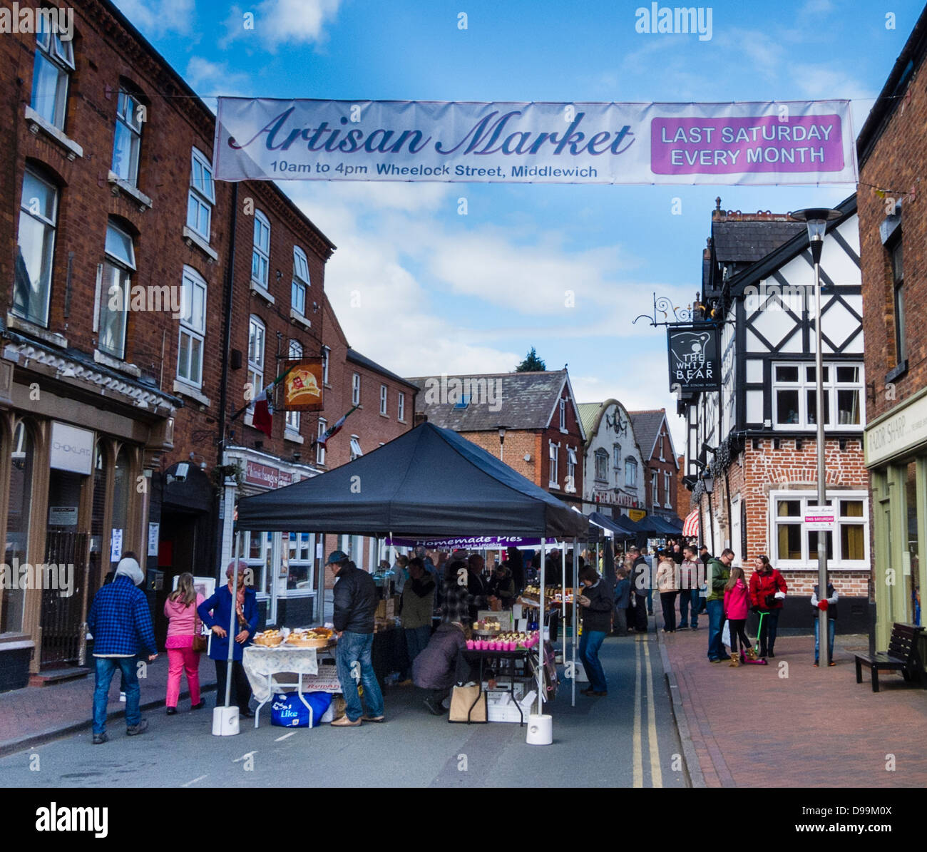 Artisan Market in Middlewich, Cheshire - Stock Image