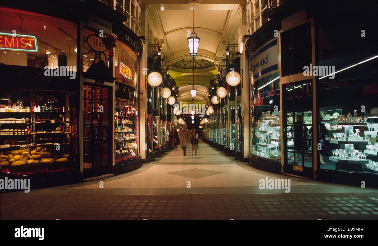 Burlington Arcade, Mayfair, London W1 Stock Photo